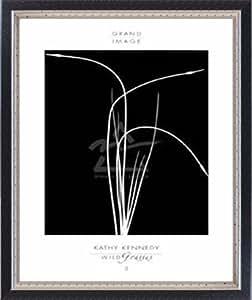 ポスター キャシー ケネディ Wild Grasses II 額装品 マッキアフレーム-S(ブラックシルバー)