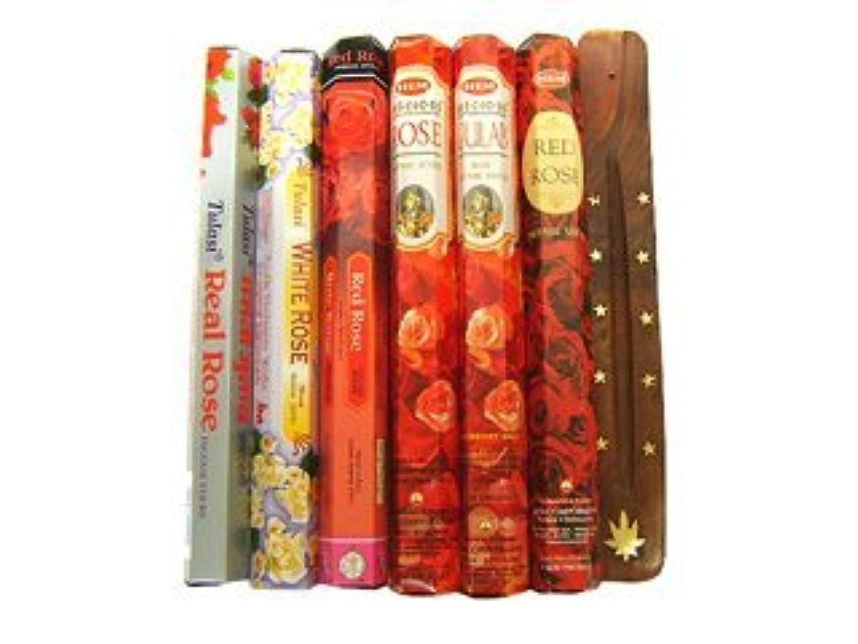 キャンディーよく話される咳バラ好きの方に インド香&お香立てローズスペシャルセット