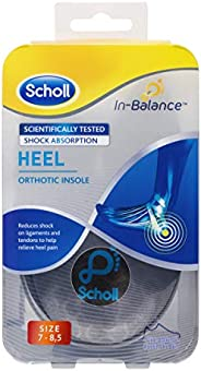 Scholl In-Balance Heel Orthotic Insole, Medium Size, 7 - 85