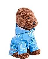小型犬 レインコート 反射テープ付き レインポンチョ 簡単脱着 犬カッパ 濡れない