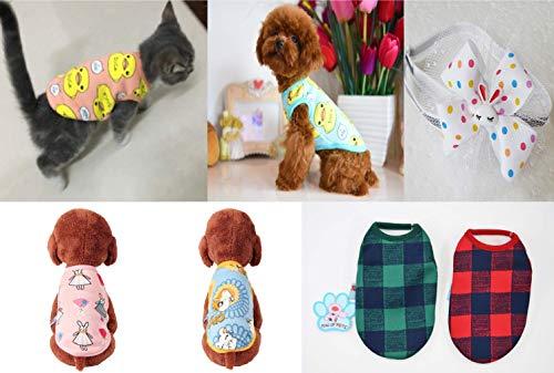オジーのしっぽ 猫の服 犬の服 XSサイズベストの2枚セット...