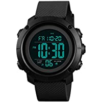 Boys Watch Digital Sports Waterproof Military Back Light Teenager Watch Black (Age for 11-15)