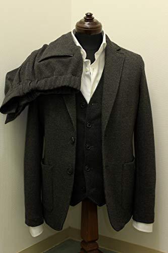 (サイズXS S M) トネッロ(TONELLO) TJACET(Tジャケット)シングルスーツ チャコールグレー千鳥格子 [419-71329001-144]