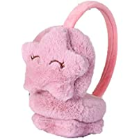 Kids Winter Earmuffs for Girls Boys Cute Star Soft Plush Faux Fur Ear Warmers Adjustable, 5-10 Y