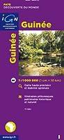 Guinée 1 : 1 000 000: Carte touristique. Découverte des pays du monde. Carte haute précision et lisibilité optimale. Itinéraires pittoresques, patrimoine historique et naturel