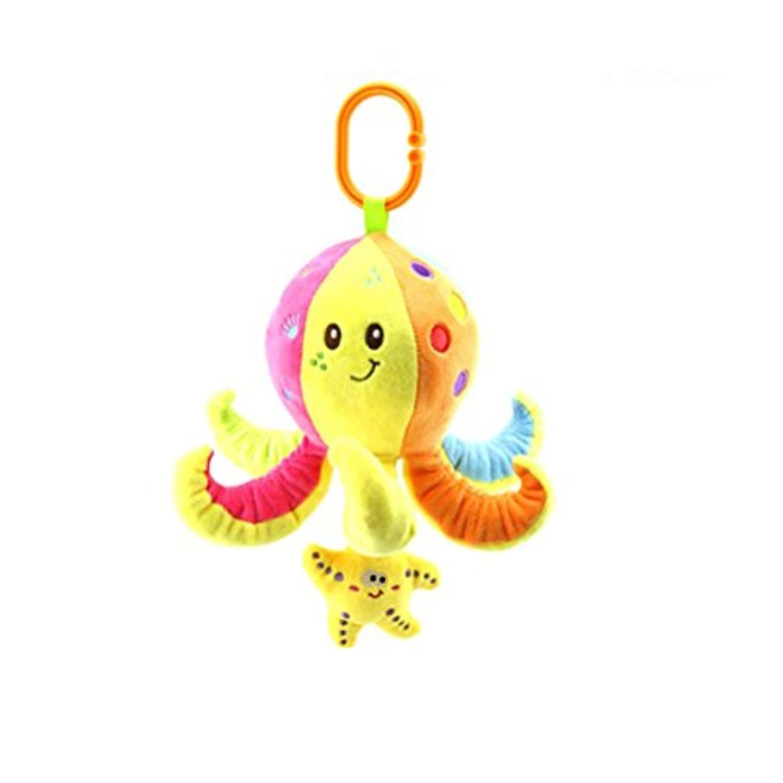 CartoonオクトパスMarine動物車ハングRattleおもちゃCute Stuffed Animal PlushベビーカーベビーベッドアクティビティおもちゃBabiesクリップon toy