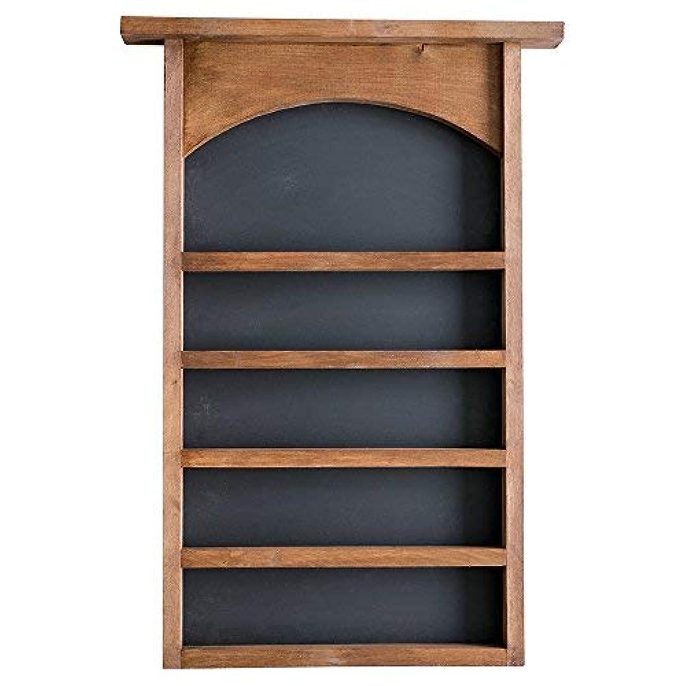 例示する人里離れたセラフEssential Oil表示シェルフと黒板Back |ソリッド木製|壁マウント| Modernファームハウス装飾| 30 x 18.5インチ