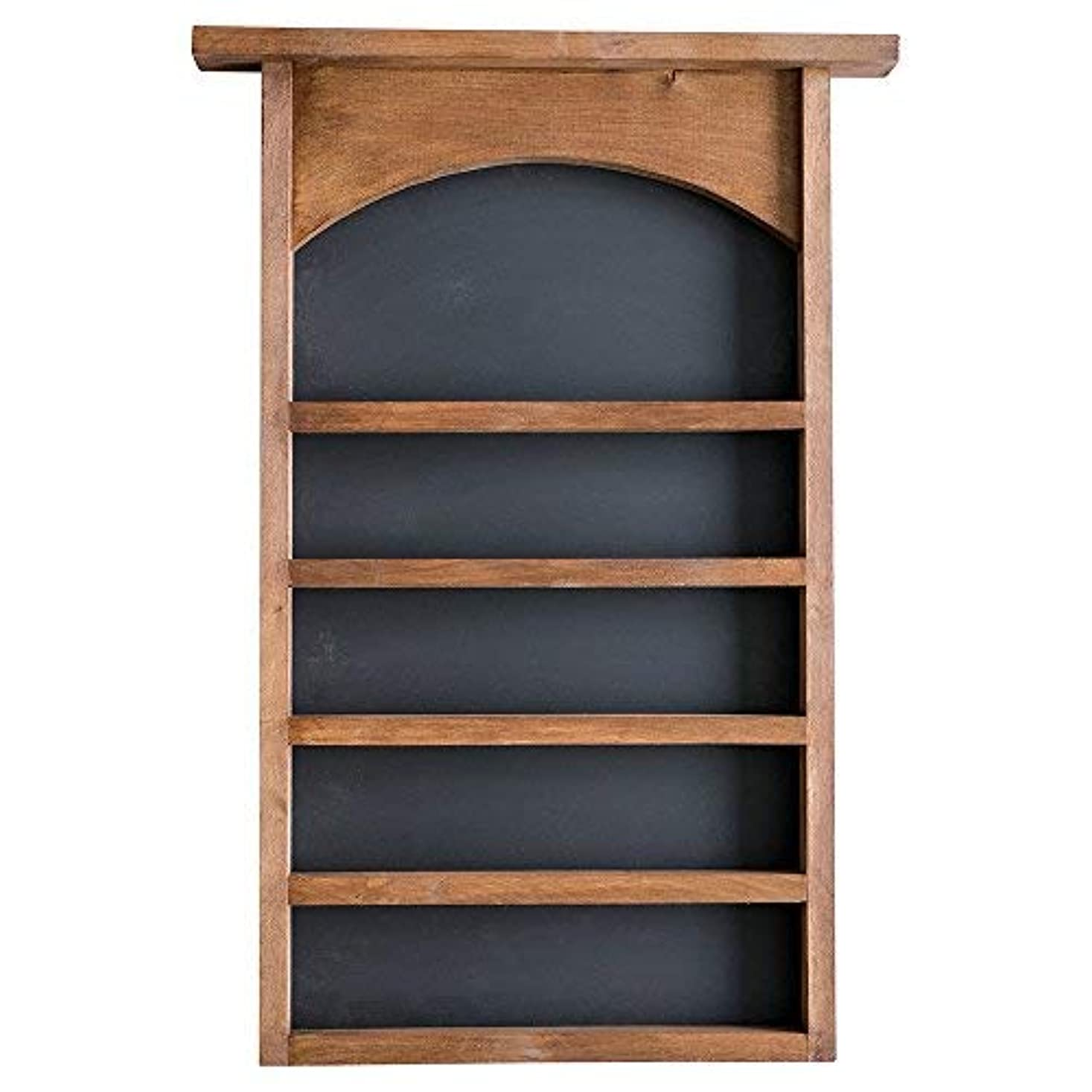 愛撫アレンジ遊び場Essential Oil表示シェルフと黒板Back |ソリッド木製|壁マウント| Modernファームハウス装飾| 30 x 18.5インチ