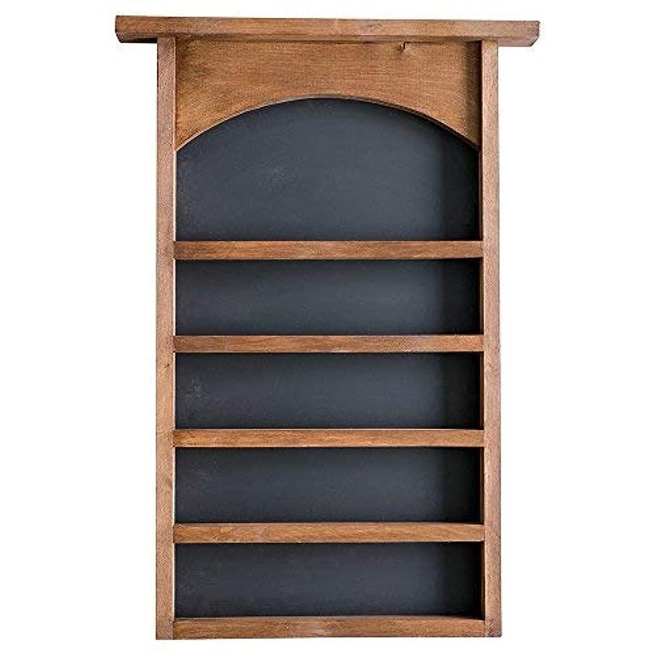 自然しわ夜明けEssential Oil表示シェルフと黒板Back |ソリッド木製|壁マウント| Modernファームハウス装飾| 30 x 18.5インチ