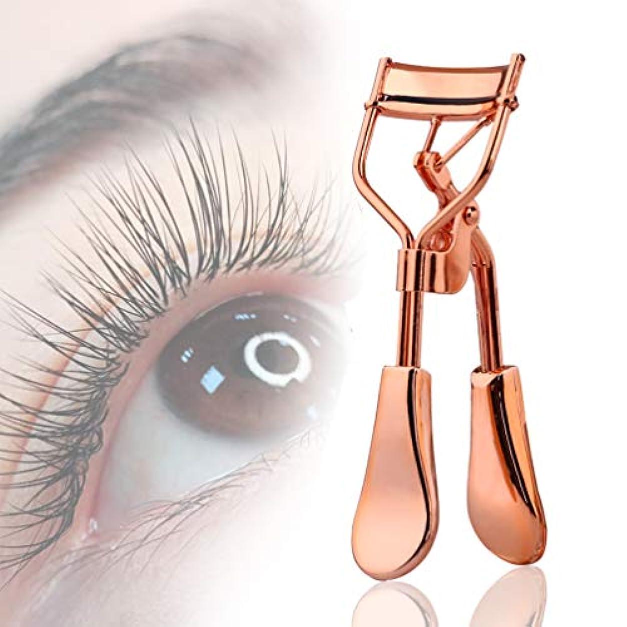許可状態モチーフアイラッシュカーラー 替えゴム 本体 + 替えゴム付き 単品 BOLAKER Eyelash Curler(ピンクゴールド)