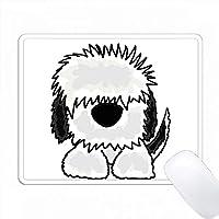 楽しい古い英語Sheepdogオリジナルアート PC Mouse Pad パソコン マウスパッド