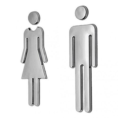 [해외]화장실 표시 안내 플레이트 표지판 호텔 매장 화장실 스티커 WC 간판/Toilet display guide plate sign Hotel shop Washroom sticker WC signboard