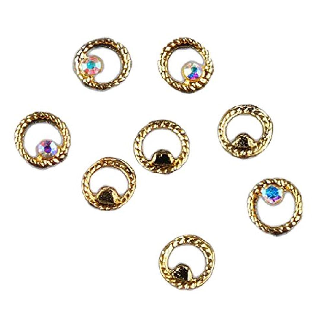 無駄にバング不安定マニキュア ダイヤモンド 約50個 3Dネイルアート ヒントステッカー 装飾 全8タイプ選べ - 3