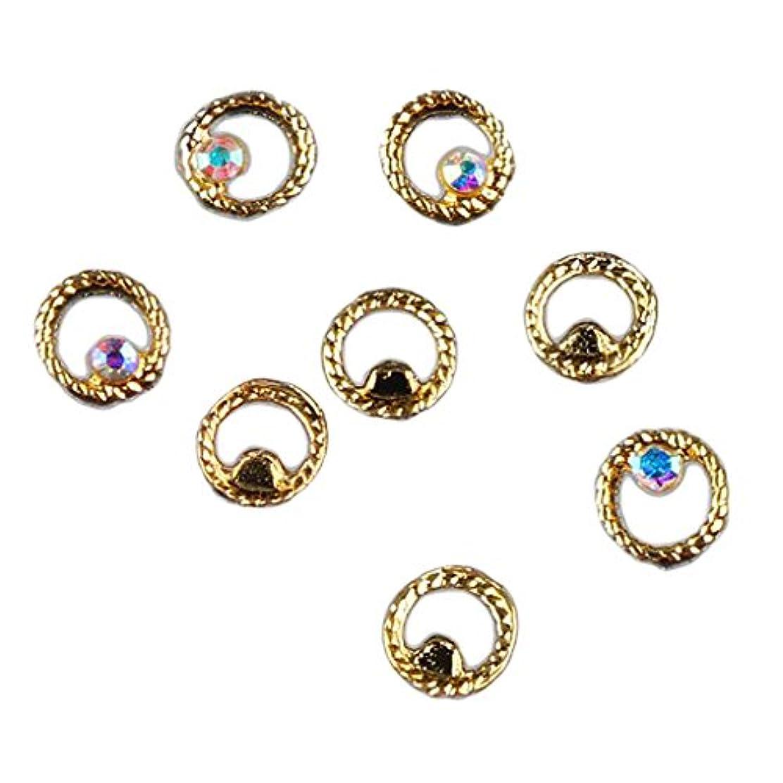 ビジネス針ペーストKesoto マニキュア ダイヤモンド 約50個 3Dネイルアート ヒントステッカー 装飾 全8タイプ選べ - 3