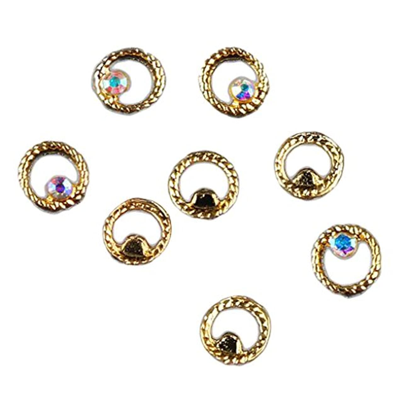 韓国アイスクリームレシピマニキュア ダイヤモンド 約50個 3Dネイルアート ヒントステッカー 装飾 全8タイプ選べ - 3