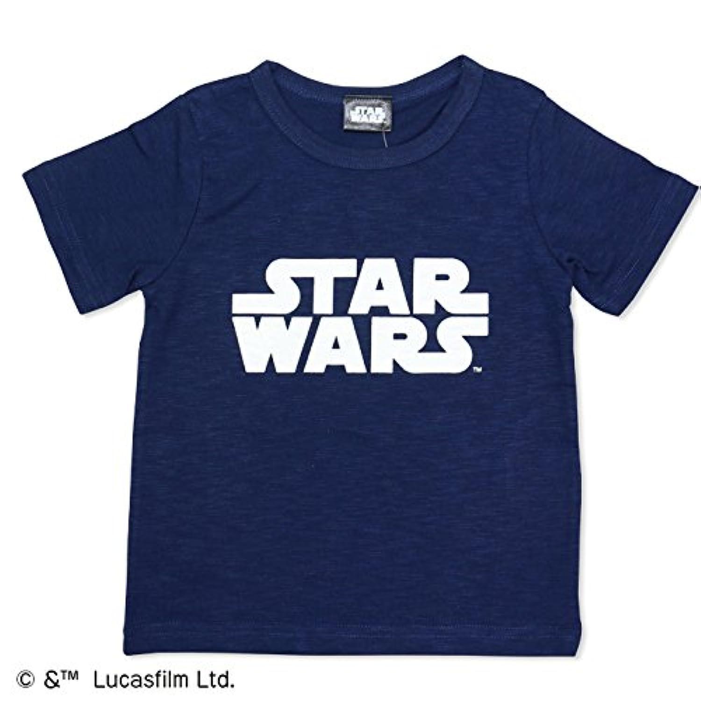 スターウォーズ STAR WARS ベビー キッズ 子供服 ベビー服 ロゴ 半袖 Tシャツ スラブ天竺 男の子 トップス ネイビー 90cm 94180181NV90