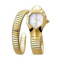 Just Cavalli Women's Glam Chic 42mm Gold-Tone Steel Bracelet & Case Quartz MOP Dial Watch JC1L001M0025