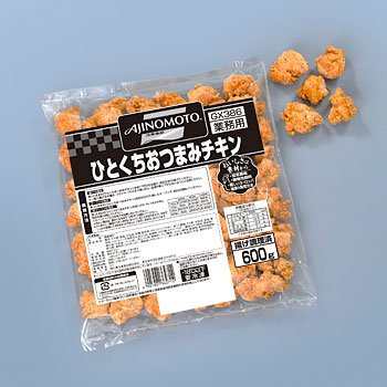 味の素 業務用 ひとくちおつまみチキン 1袋(600g)(電子レンジ調理対応 からあげ から揚げ 唐揚げ)(冷...