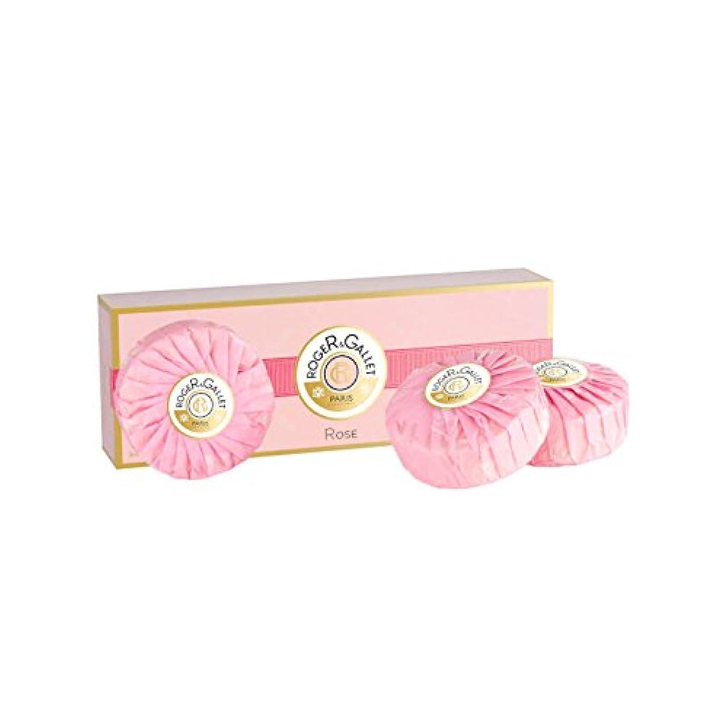 オリエンテーションアトミック脈拍ロジェガレ ローズ 香水石鹸 3個セット 100g×3 ROGER & GALLET ROSE SOAP [並行輸入品]
