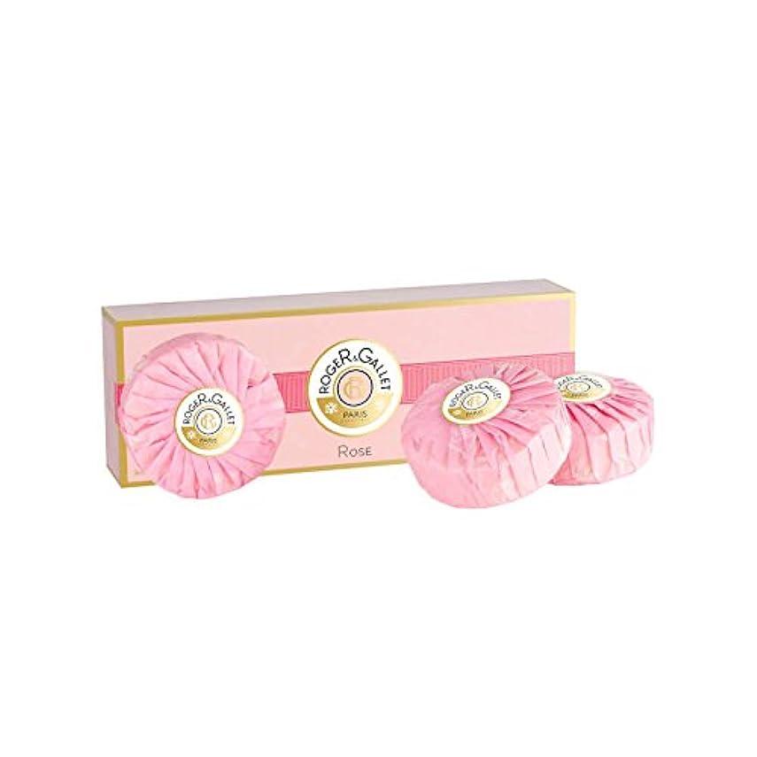 歯痛保証障害者ロジェガレ ローズ 香水石鹸 3個セット 100g×3 ROGER & GALLET ROSE SOAP [並行輸入品]