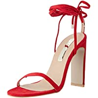 BILLINI Women's DAIANO Strappy Block Heel, RED Suede, 9 AU