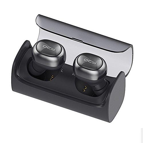 【QCY正規品 1年保証】 QCY Q29 Bluetooth4.1 高音質 両耳モード使用 左右分離型 ワイヤレス Bluetooth イヤホン 最新充電機能搭載収納箱 4色揃い (ブラック)