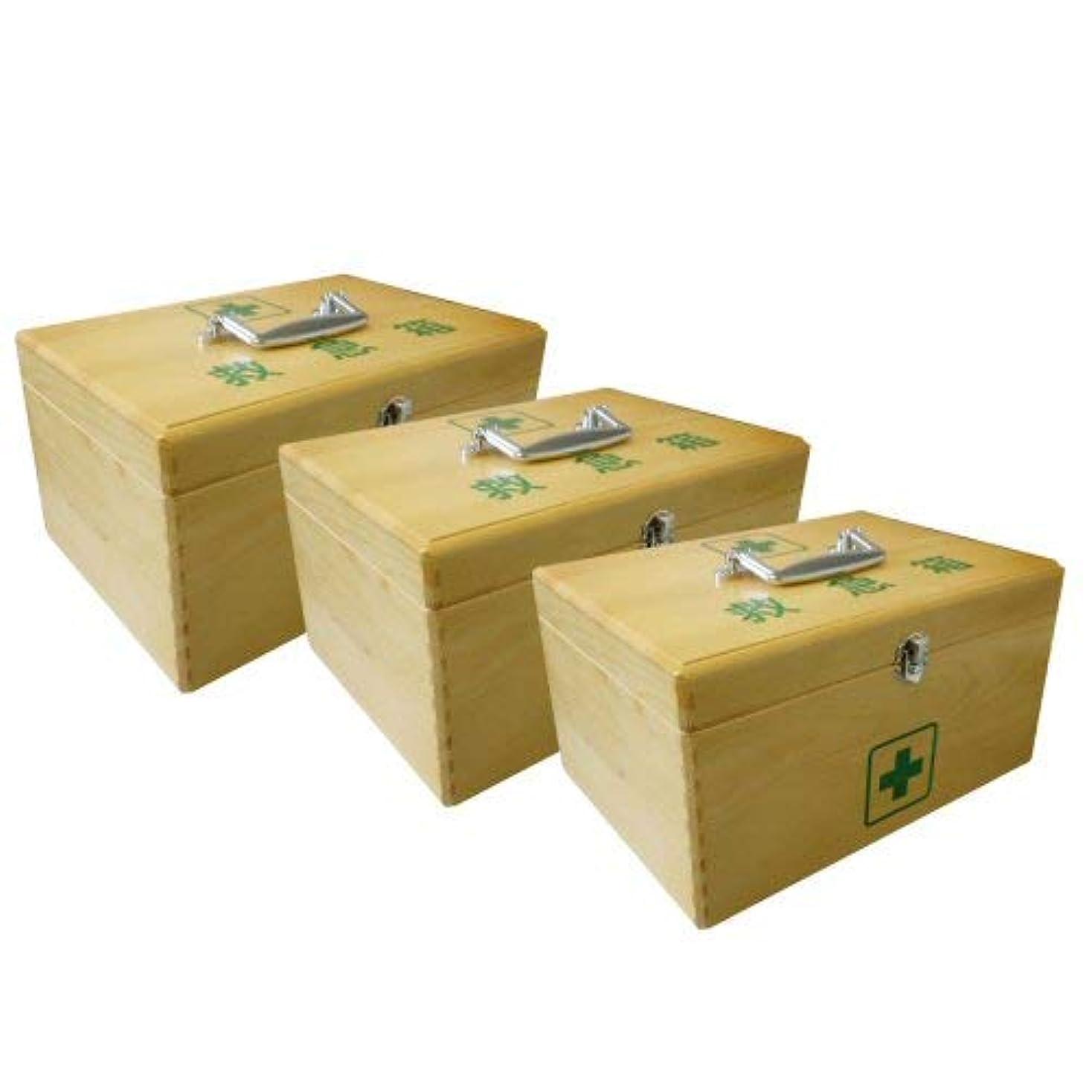 無謀練習オレンジLE木製救急箱S(衛生材料セット付)×3セット
