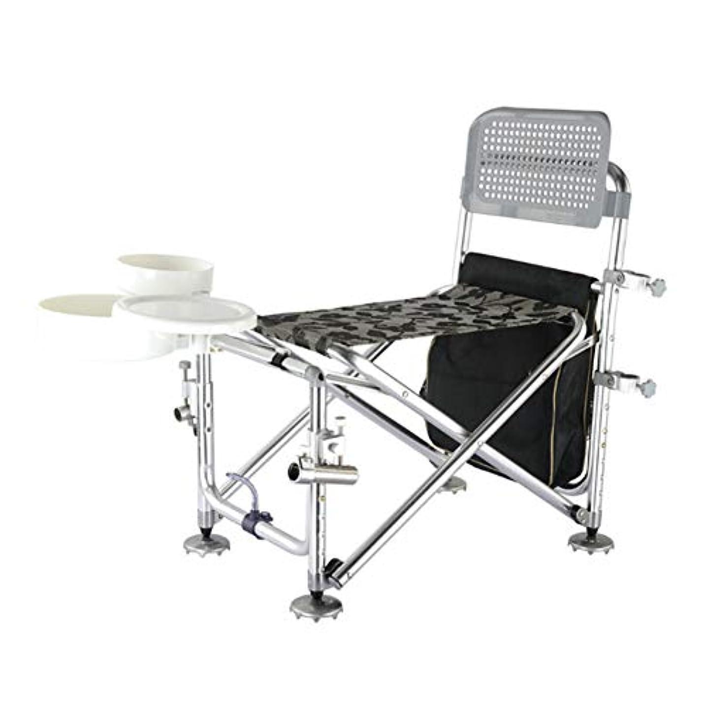 道徳教育付与特許折りたたみ釣り椅子、軽量と軽量、快適な背中の高さのデザイン、釣りレジャーチェアを搭載した釣りテーブルキャリングバッグ付き多機能釣り椅子