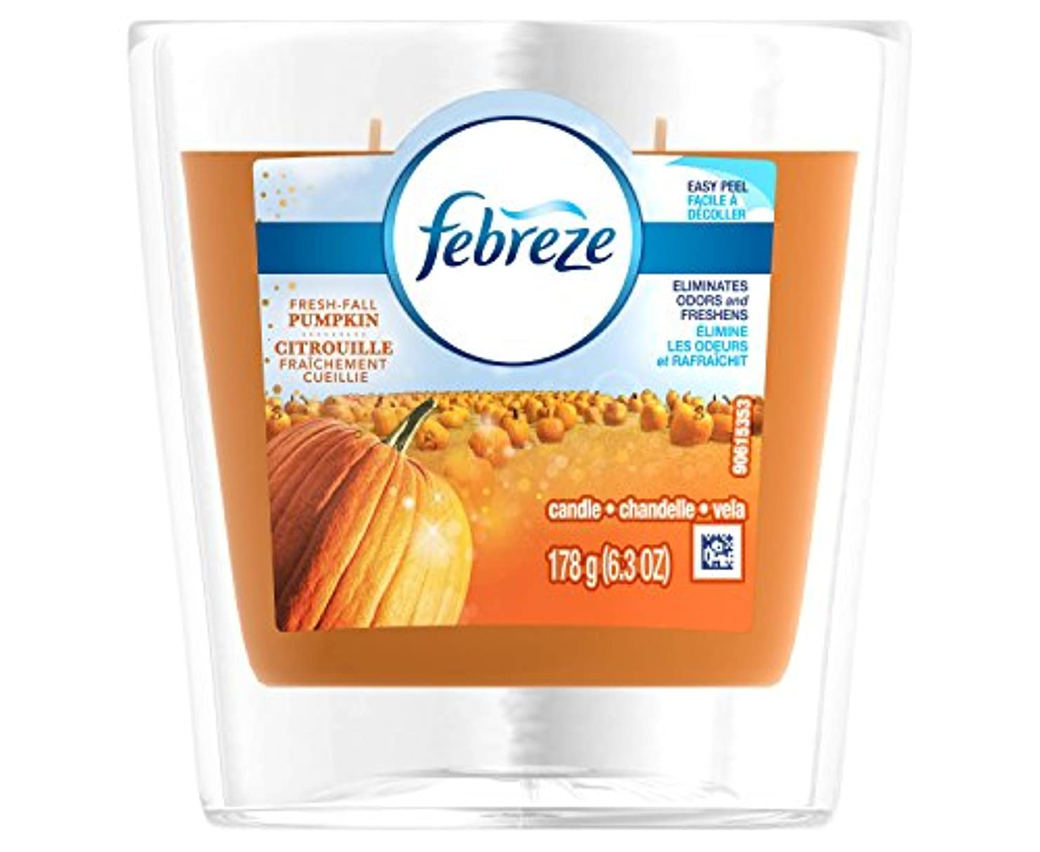 幸運なことに王位ジョットディボンドンFebrezeフレッシュFall Pumpkin Candle – 6.3oz
