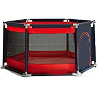 LHA ベッドガード?フェンス 子供用ボールピットセーフティフェンスドアセット、セーフ(赤い六角)