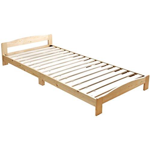 タンスのゲン すのこベッド シングル ベッドフレーム 天然木 北欧パイン無垢材 ナチュラル 49600001 NA