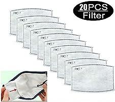 20ピース活性炭呼吸フィルター抗PM2.5交換可能な5層アンチヘイズフィルター防護フィルター屋外活動スポーツ