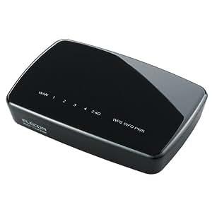 ELECOM 無線LAN 中継器 ACアダプター接続モデル 11ac/n/a/g/b 433+300Mbps WRC-733FEBK-R