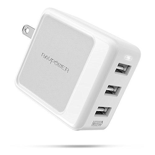 RAVPower USB充電器 3ポート 30W 最大出力5V/2.4A/急速充電/折畳式プラグ/小型軽量/PSE認証済 iPhone/iPad/Android USB機器各種対応 RP-PC094 (ホワイト)