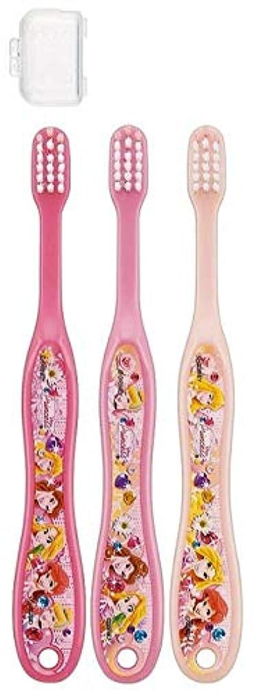 故障中拍手リングキャップ付き 3本セット 子供歯ブラシ 園児用 ディズニープリンセス アナと雪の女王 キティ サンリオ fo-shb01(ディズニープリンセス)