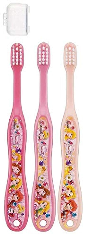 凶暴なタイヤライセンス子供歯ブラシ 園児用 キャップ付き 3本セットディズニープリンセス アナと雪の女王 キティ サンリオ fo-shb01(ディズニープリンセス)