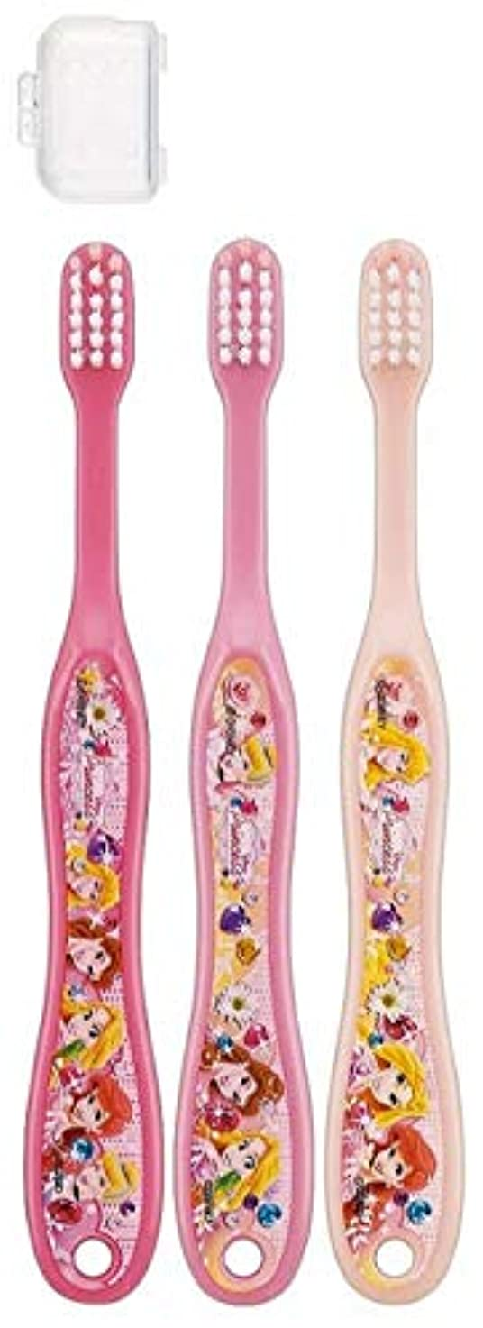キャップ付き 3本セット 子供歯ブラシ 園児用 ディズニープリンセス アナと雪の女王 キティ サンリオ fo-shb01(ディズニープリンセス)