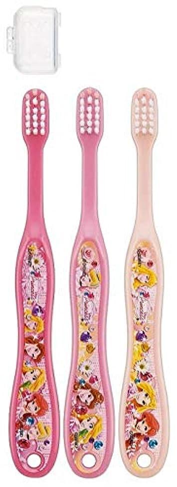モンスターマウント甘味ディズニー& キティ 子供用歯ブラシ 3本セット キャップ付き fo-shb01 (ディズニープリンセス)