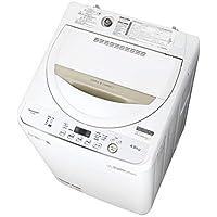 シャープ SHARP 全自動洗濯機 幅56.5cm(ボディ幅52.0cm) 4.5kg ステンレス槽 ベージュ系 ES-GE4D-C