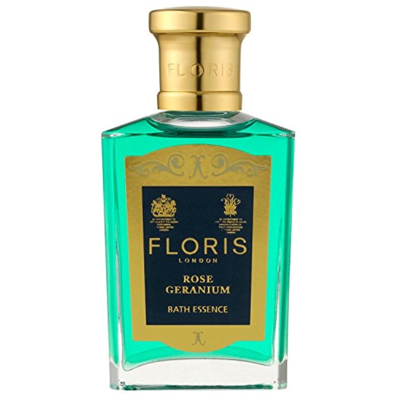 電球不安フィラデルフィア[Floris] フロリスは、ゼラニウムバスエッセンス50ミリリットルをバラ - Floris Rose Geranium Bath Essence 50ml [並行輸入品]
