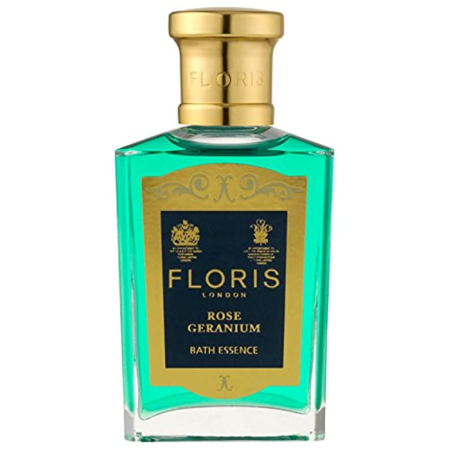 組立知覚できる政令[Floris] フロリスは、ゼラニウムバスエッセンス50ミリリットルをバラ - Floris Rose Geranium Bath Essence 50ml [並行輸入品]