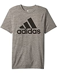 (アディダス) adidas キッズTシャツ Melange Performance Tee (Big Kids) Charcoal Grey Heather XL (18 Big Kids) (XL) One Size