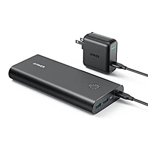 Anker PowerCore+ 26800 PD (26800mAh 2ポート 超大容量 モバイルバッテリー)【PSE認証済 / Power Delivery対応 / USB-C急速充電器付属】iPhone&Android対応