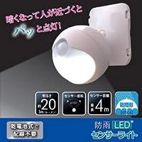 旭電機化成 防雨LEDセンサーライト 809994