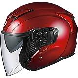 オージーケーカブト(OGK KABUTO)バイクヘルメット ジェット EXCEED シャイニーレッド (サイズ:L) 576943