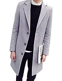(リスキス) riskiss メンズ カジュアル チェスター コート シンプル モード アウター ジャケット 上着 無地 長袖