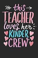 Notebook: Kinder Kindergarten Teacher 6x9 Dot Grid 120 Pages