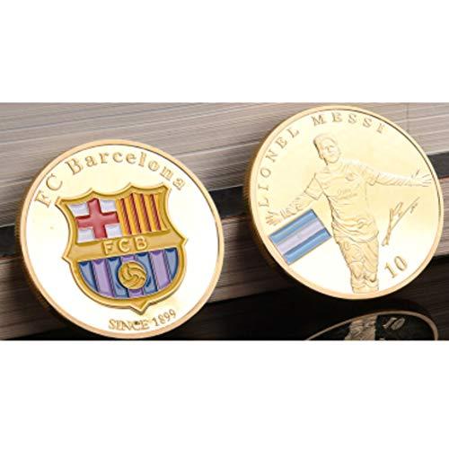 バルセロナメッシパターン絶妙な刻印金属ビットコインコインコレクション種類通貨お土産ギフト記念コイン-ゴールデン
