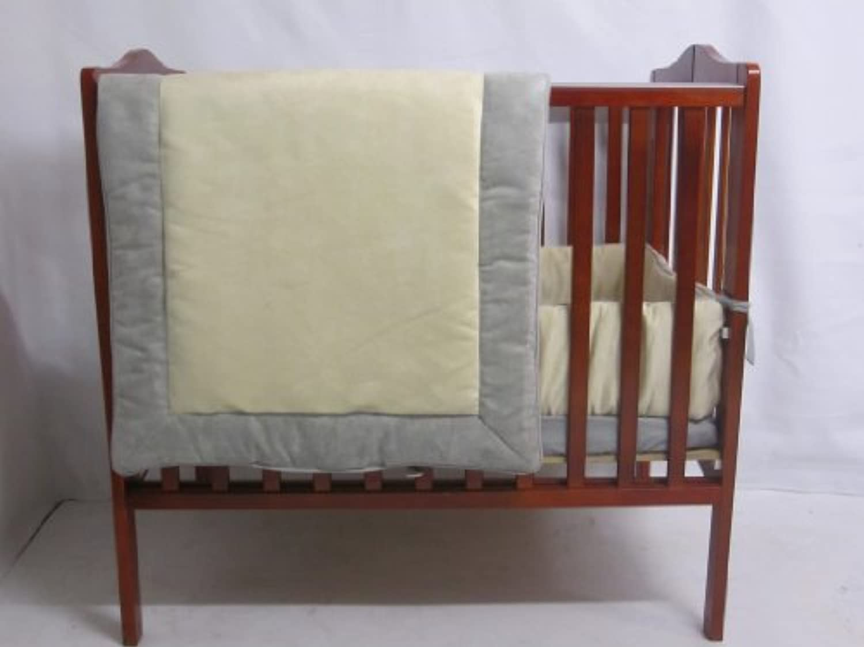 Baby Doll Bedding ZumaMini Crib/ Port-A-Crib Bedding Set, Grey/Beige by BabyDoll Bedding