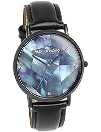 [アリーデノヴォ]ALLY DENOVO 腕時計 ウォッチ 36mm Gaia Pearl ブラック パール文字盤 レディース [並行輸入品]
